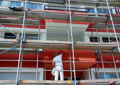 Ihr Ansprechpartner für fachgerechtes Gerüst in Landshut - Malerbetrieb Huber
